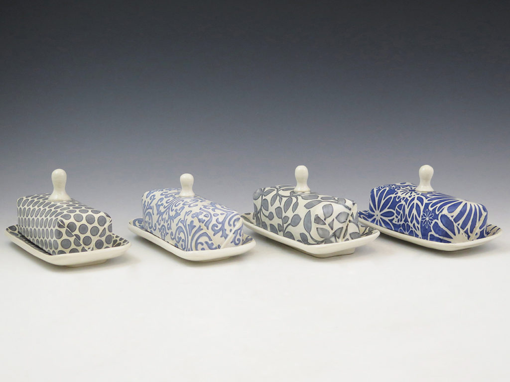 Ceramic Butter Dishes by Mandy Henebry