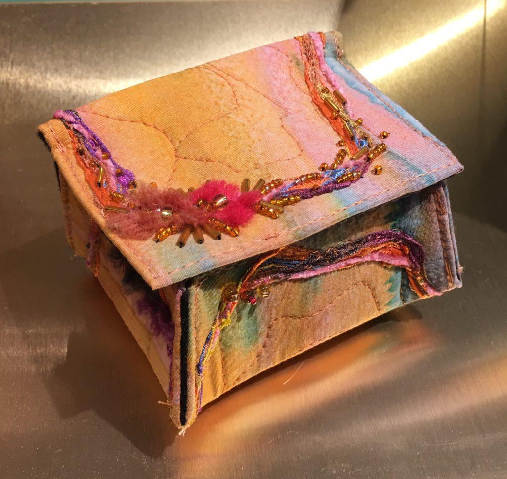 Fiber Textile Box by Arlene Fitterer