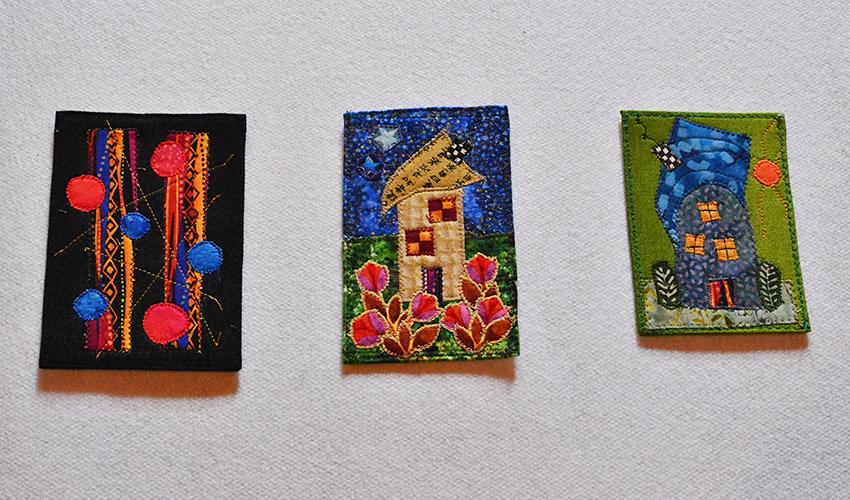 Fiber Postcards by Arlene Bitterer