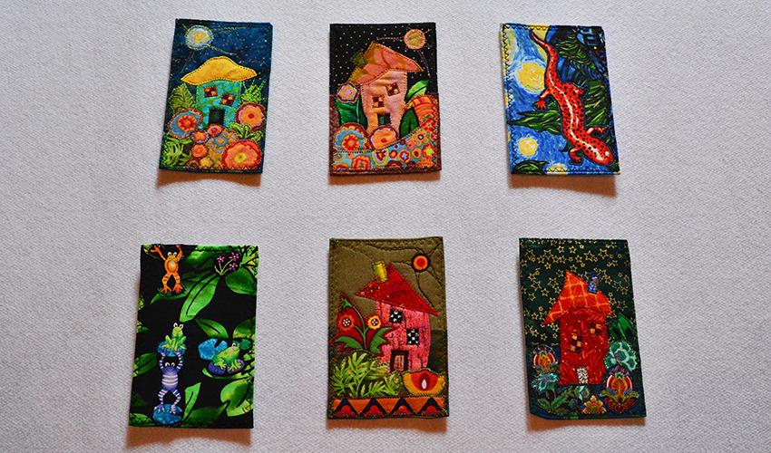 Fiber Postcards by Arlene Fitterer