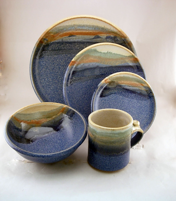 Functional Pottery Dinner Set by Catharine Abelson