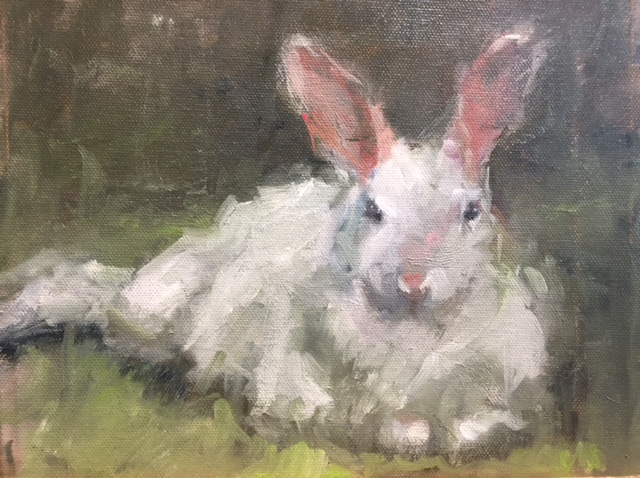 Original Oil Painting of a Rabbit by Beverly Endsley