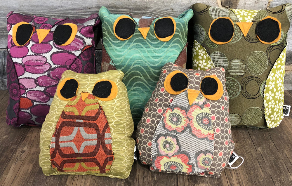 Owl Pillows by Donna Eberle