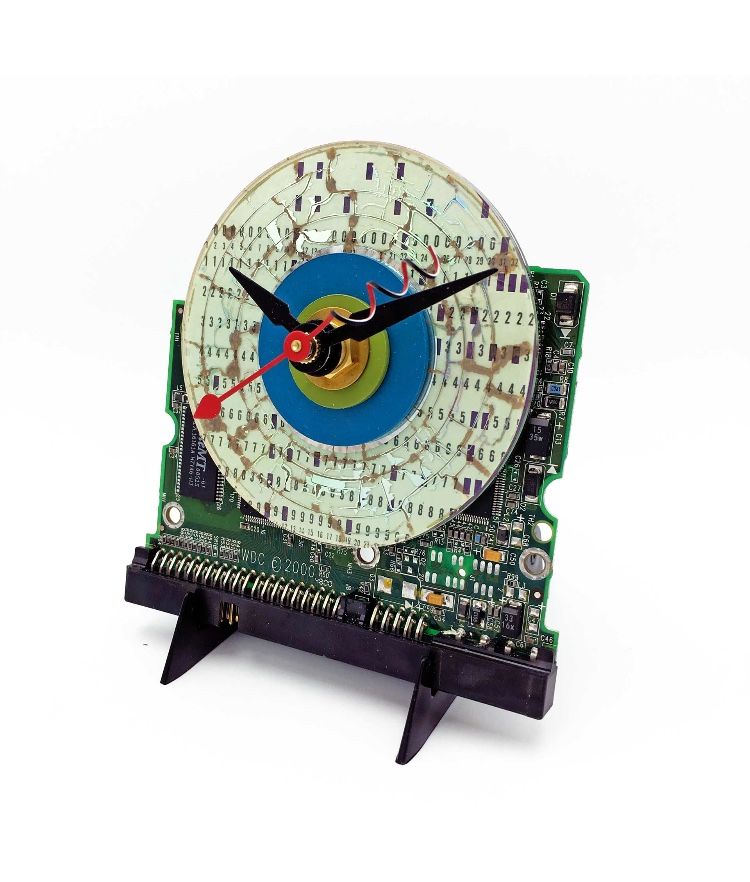 Computer Art Clock by Carol Baum