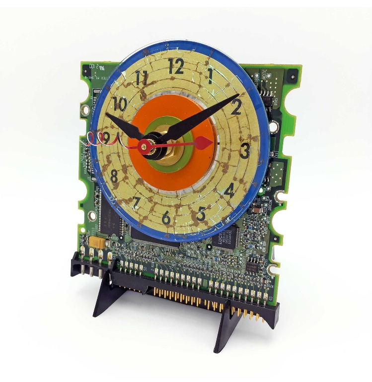 Makin' Time Art Clock by Carol Baum