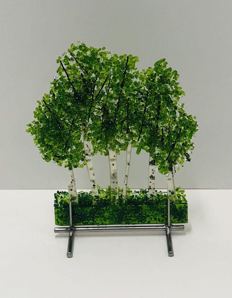 Glass Aspen Trees by Arlyss Grosz