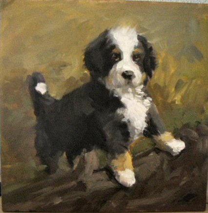 Bernese Mountain Dog painting by Beverly Endsley
