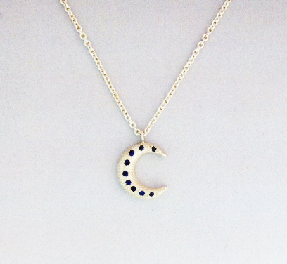 Moon necklace by Brendan White