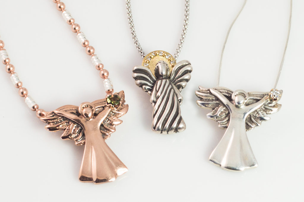 Evergreen Angel Necklaces, Charms and Pendants