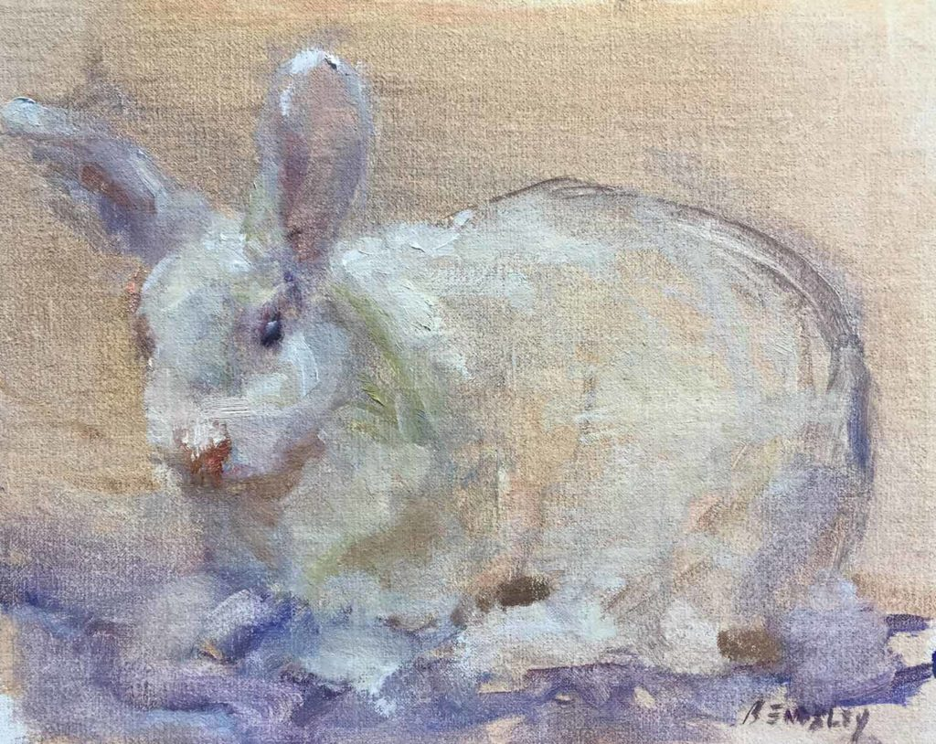 Whisper - Original Oil Painting of a rabbit by Beverly Endsley
