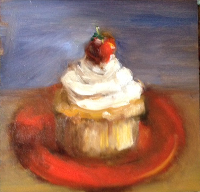Cupcake Painting by Beverly Endsley