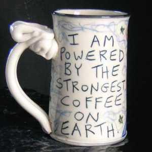 Humorous Coffee Mug by Evergreen Artist, Tom Edwards