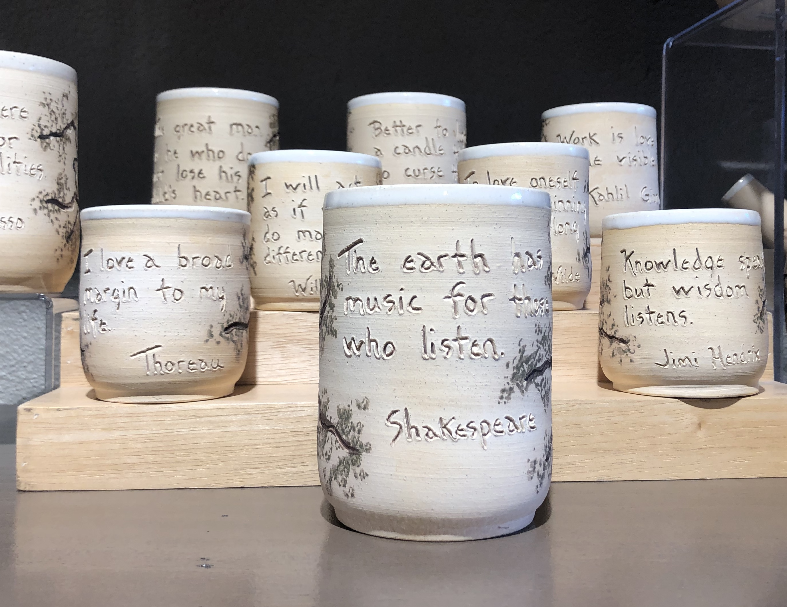 Etta Satter's handmade Quote Cups
