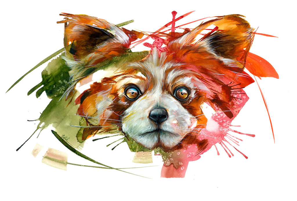 Wildlife Watercolor Artist Sarah Janece Garcia