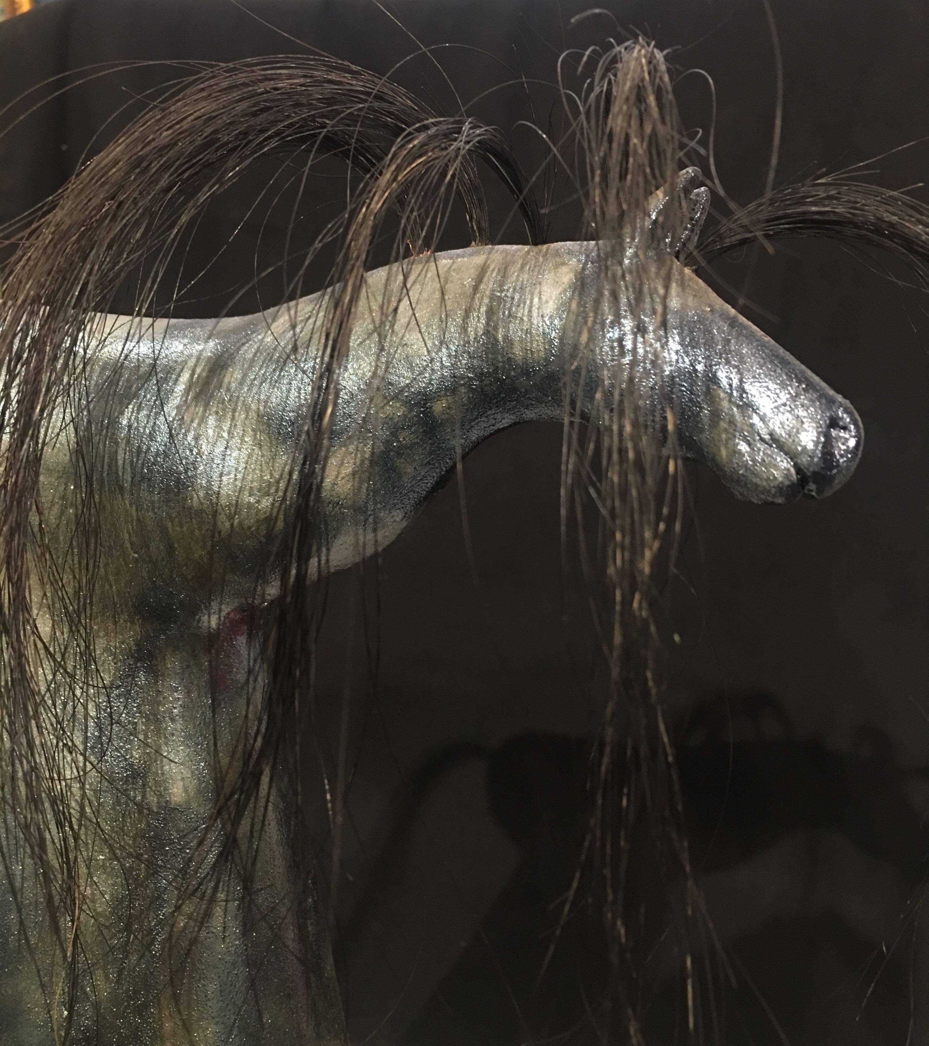 Raku Horse by Judi Iannocito - Handmade Colorado Pottery