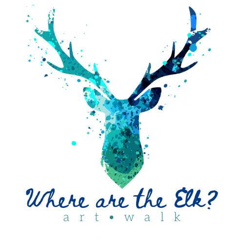 Where are the Elk? Art Walk Logo